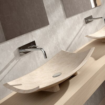 Bora Bora Rectangular Vessel Bathroom Sink Sink Finish: Beige