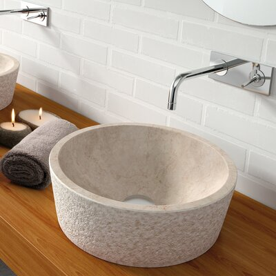 Dual Marble Specialty Vessel Bathroom Sink Sink Finish: Beige