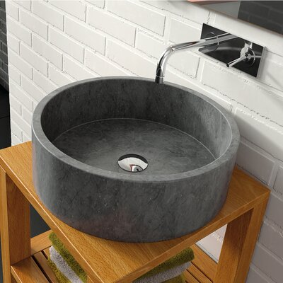 Bali Circular Vessel Bathroom Sink Sink Finish: Black