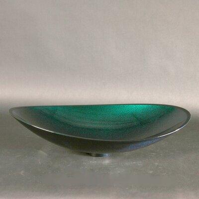 Infinity Oval Vessel Bathroom Sink Sink Finish: Blue / Green
