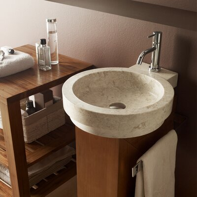 Icono Circular Vessel Bathroom Sink Sink Finish: Beige