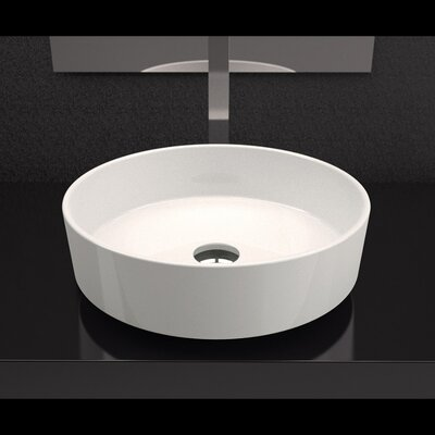 Rho Starlight Circular Vessel Bathroom Sink Sink Finish: Starlight White