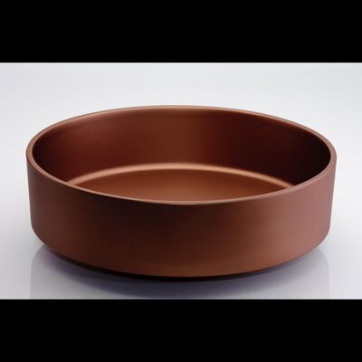 Rho Circular Vessel Bathroom Sink Sink Finish: Brushed Copper