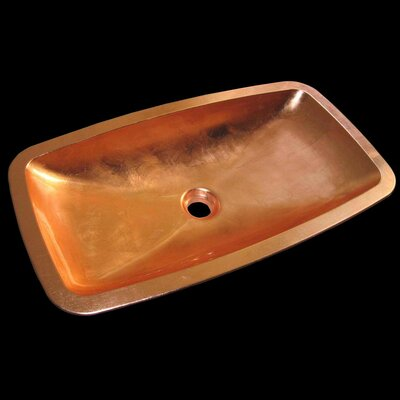 Open Rectangular Vessel Bathroom Sink Sink Finish: Copper Leaf
