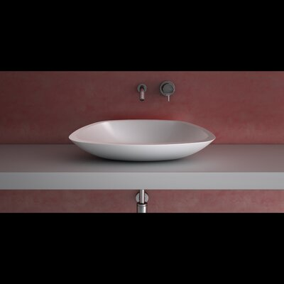 Az Out Unique Rectangular Vessel Bathroom Sink Sink Finish: White Polish