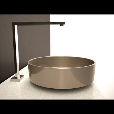 Rho Starlight Circular Vessel Bathroom Sink Sink Finish: Starlight Champagne