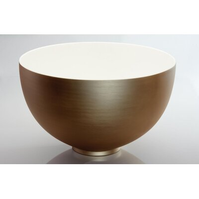 Cocoon Circular Vessel Bathroom Sink Sink Finish: Brushed Gold White