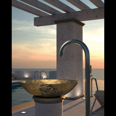 Circus Circular Vessel Bathroom Sink Sink Finish: Gold