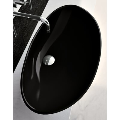 Mood Oval Vessel Bathroom Sink Sink Finish: Black Polish