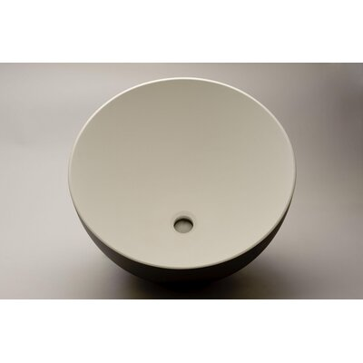 Cocoon Circular Vessel Bathroom Sink Sink Finish: Brushed Platinum White
