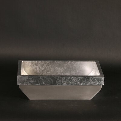 Vetro Freddo Kosta Lea Rectangular Vessel Bathroom Sink Sink Finish: Silver Leaf