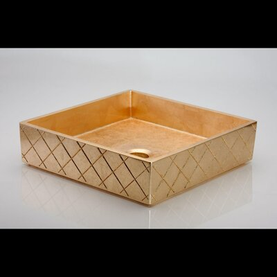 MX Square Vessel Bathroom Sink Sink Finish: Gold Leaf