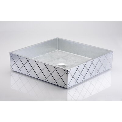 MX Square Vessel Bathroom Sink Sink Finish: Silver Leaf