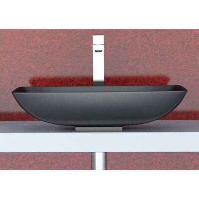 Vetro Freddo Net Rectangular Vessel Bathroom Sink