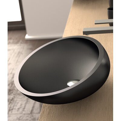Vetro Freddo Kool Oval Vessel Bathroom Sink Sink Finish: Black