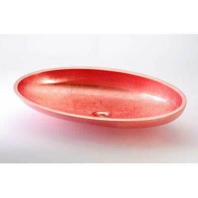 Vetro Freddo Kool Max European Oval Vessel Bathroom Sink Sink Finish: Copper Leaf