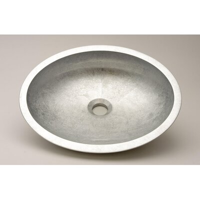 Vetro Freddo Kool Oval Vessel Bathroom Sink Sink Finish: Silver