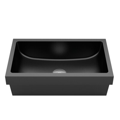 Vetro Freddo Kosta Rectangular Vessel Bathroom Sink Sink Finish: Black