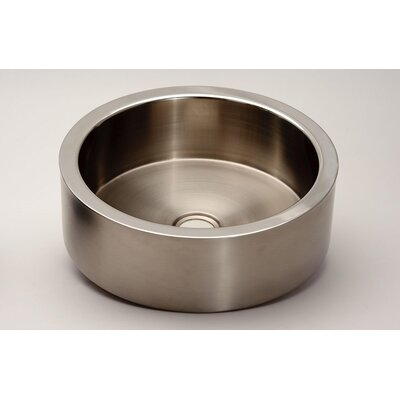 Zero De Coste Circular Vessel Bathroom Sink Sink Finish: Inox Polish