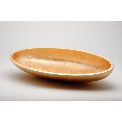 Vetro Freddo Kool Oval Vessel Bathroom Sink Sink Finish: Gold Leaf