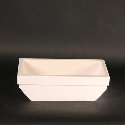 Vetro Freddo Kosta Rectangular Vessel Bathroom Sink Sink Finish: White