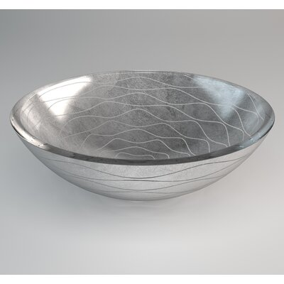 Vetro Freddo Circular Vessel Bathroom Sink Sink Finish: Silver