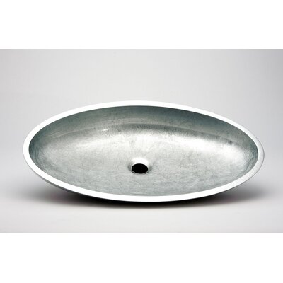 Vetro Freddo Kool Oval Vessel Bathroom Sink Sink Finish: Silver Leaf