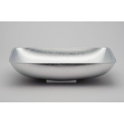 Vetro Freddo Rectangular Vessel Bathroom Sink Sink Finish: Silver Leaf