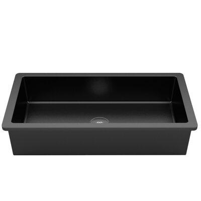 Vetro Freddo RX Rectangular Vessel Bathroom Sink Sink Finish: Black