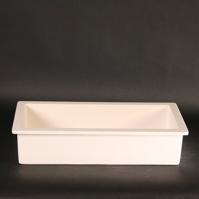 Vetro Freddo RX Rectangular Vessel Bathroom Sink Sink Finish: White