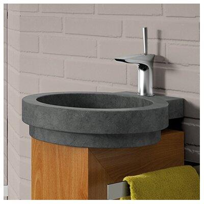 Icono Circular Vessel Bathroom Sink Sink Finish: Black