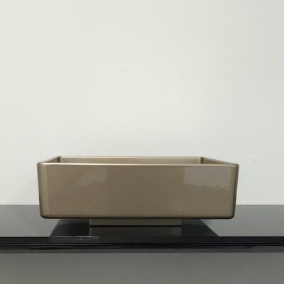 Four Square Vessel Bathroom Sink Sink Finish: Champagne