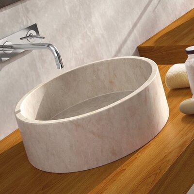 Bali Circular Vessel Bathroom Sink Sink Finish: Beige