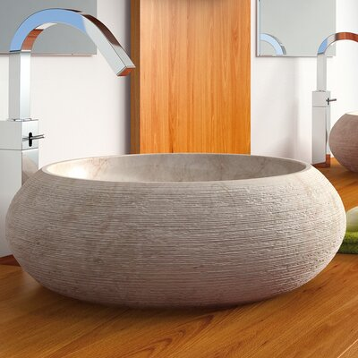 Fiji Circular Vessel Bathroom Sink Sink Finish: Beige