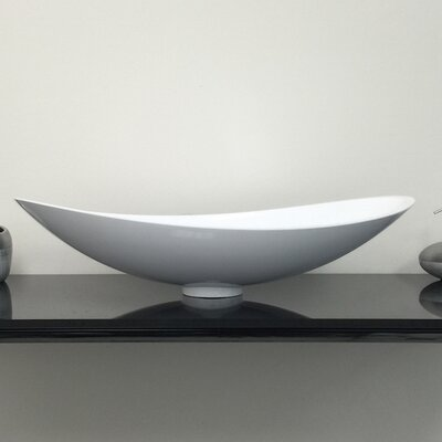 Infinity Oval Vessel Bathroom Sink Sink Finish: White