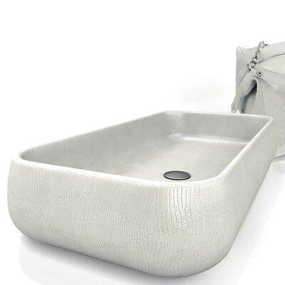 Moda Giungla Iguana Rectangular Vessel Bathroom Sink Sink Finish: Iguana Ice