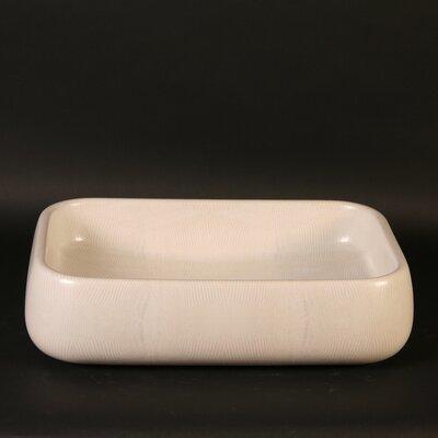 Moda Giungla Iguana Rectangular Vessel Bathroom Sink Sink Finish: Iguana White