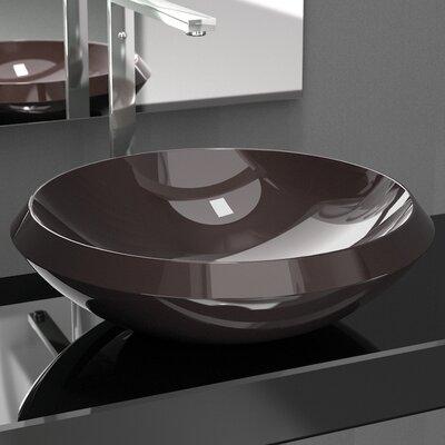 Zero Circular Vessel Bathroom Sink Sink Finish: Bruno