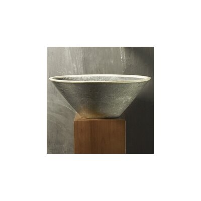 Duotono B Stone Ultra Circular Vessel Bathroom Sink Sink Finish: Beige