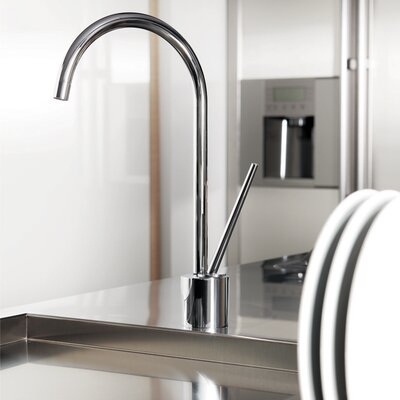 Tropic Single Handle Deck Mounted Kitchen Faucet Finish: Brushed Nickel