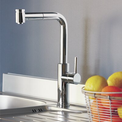 Milo Pull Out Single Handle Kitchen Faucet Finish: Chrome