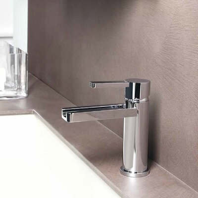 Single Hole Waterfall Faucet Finish: Polished Chrome