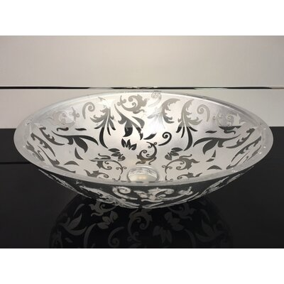 Damasco Fancy Glass Circular Vessel Bathroom Sink