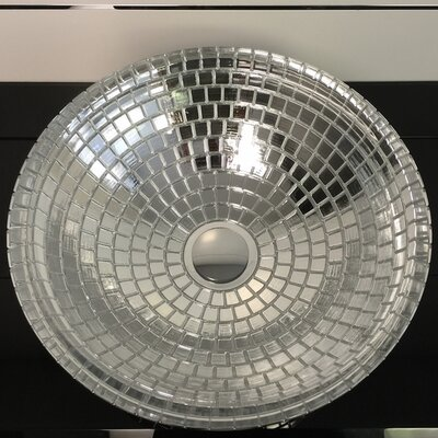 Atelier Mosaic Glass Circular Vessel Bathroom Sink Sink Finish: Silver
