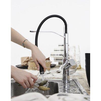 Viva Pro Single Handle Pull Down Kitchen Faucet Finish: Chrome