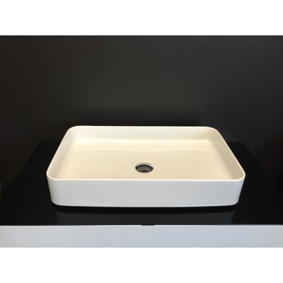 Ceramic Omnia Rectangular Vessel Bathroom Sink