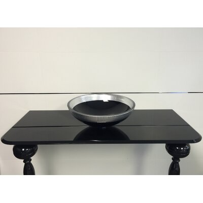 Atelier Filigrana Circular Vessel Bathroom Sink Sink Finish: Black/Silver