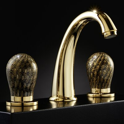 Murano 3 Hole Luxury Widespread Bathroom Faucet Finish: Black/Gold