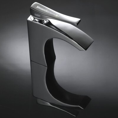 Skip Diamond Swarovski Crystal Single Handle Vessel Bathroom Faucet Finish: Polished Chrome