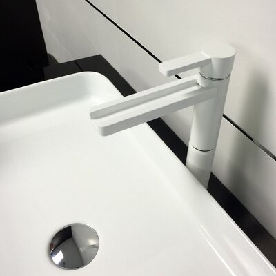 Single Hole Waterfall Faucet Finish: White Mat
